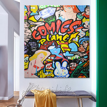 Andy Warhol Pop Art Cartoon Oil painting on canvas hight Quality Hand-painted Painting Comic Planet oil