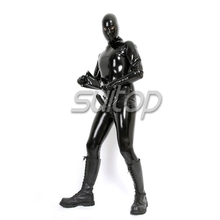 Sexy latex full body catsuit with condom for men SUIT COSPLAY SUITOP