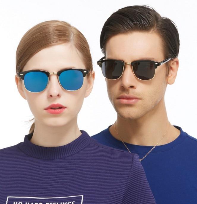 F3 Polarizované hranaté sluneční brýle Pánské značkové provedení Ženy Retro půl rámečku Sluneční brýle pro muže Řízení Gafas A De Sol