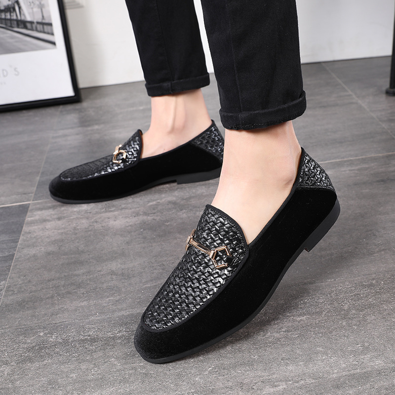 2019 Spring Summer New Men Leather Fashion Pointed British Men Leather Shoes Solid Color Breathable Feet Flat with Low Shoes in Men 39 s Casual Shoes from Shoes
