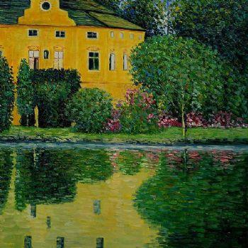 Schloss Kammer On Attersee Iii Gustav Klimt Oil Painting Waterside Scene Canvas Wall Art Painting Painter Painting With Oil Stickspaintings Ballerinas Aliexpress