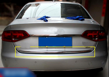 1* Stainless Steel Outer Exterior Rear Trunk Gate Lid Cover Trim Sticker Styling For Audi A4 B8 Sedan 2008 2009 2010 2011 2012