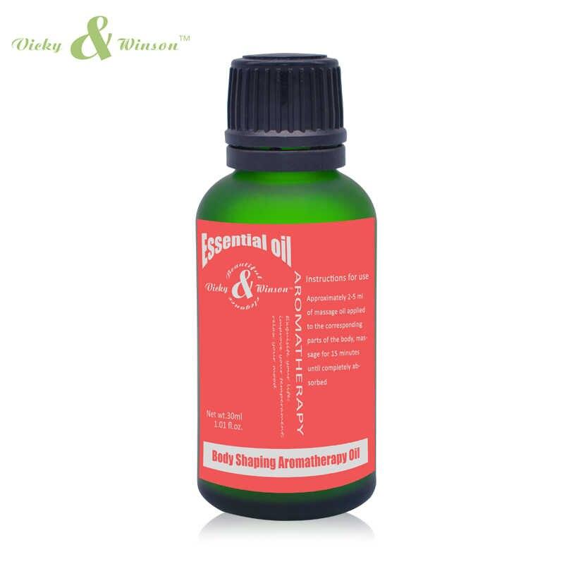 Vicky & Winson corps façonnage huile essentielle composé efficace raffermissant peau lâche améliorer la fermeté de la peau aromathérapie huile 30 ML VWFF2