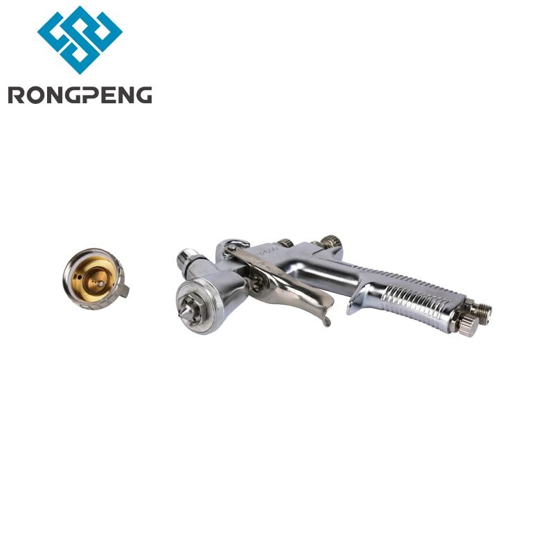 Купить с кэшбэком Rongpeng LVLP Air Spray Gun R500 Car Finish Painting tool 1.5mm Nozzle 600cc Cup Gravity feed copper air cap factory wholesale