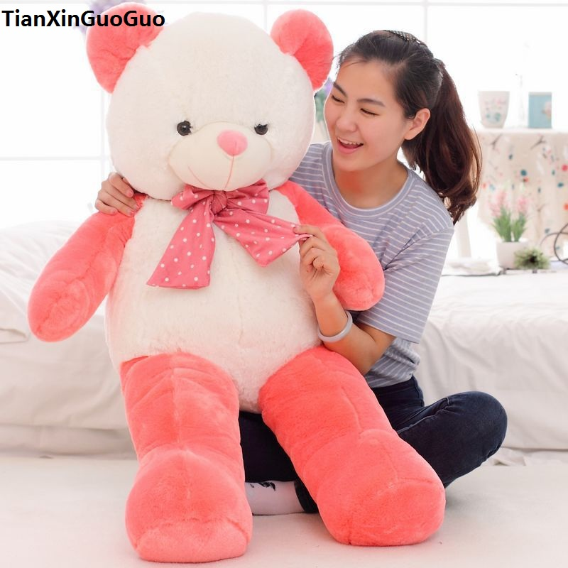 new arrival stuffed plush toy cute watermelon teddy bear doll large 120cm soft throw pillow toy birthday gift b2788 large cute plush led panda teddy bear doll new year s gift colorful rainbow flash light children girl toy