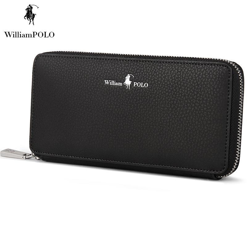ФОТО WILLIAMPOLO 2017 Italian Leather Men Wallet Famous Brand Coin Purse Wallet For Phone And Cash European Style Wallet POLO121
