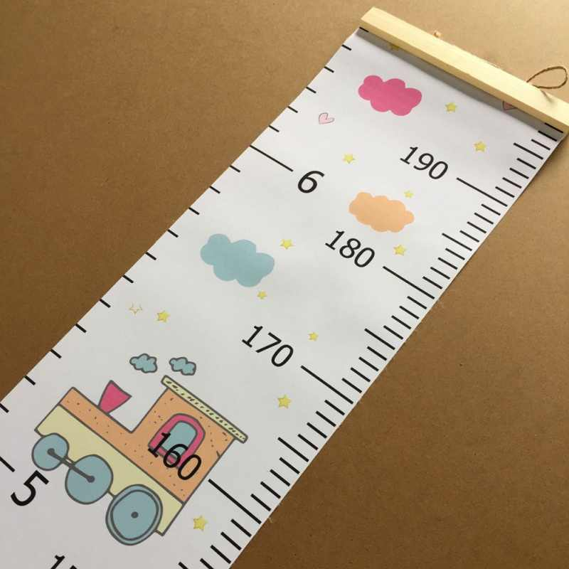 Hanging Canvas Height Measurement Ruler Kids Growth Chart Wall Decor Ruler For Baby Nursery Decoration
