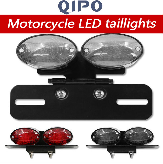 QIPO Motorcycle parts Retro-led tail l& with rear end l& plate holder Double brake  sc 1 st  AliExpress.com & QIPO Motorcycle parts Retro led tail lamp with rear end lamp plate ...