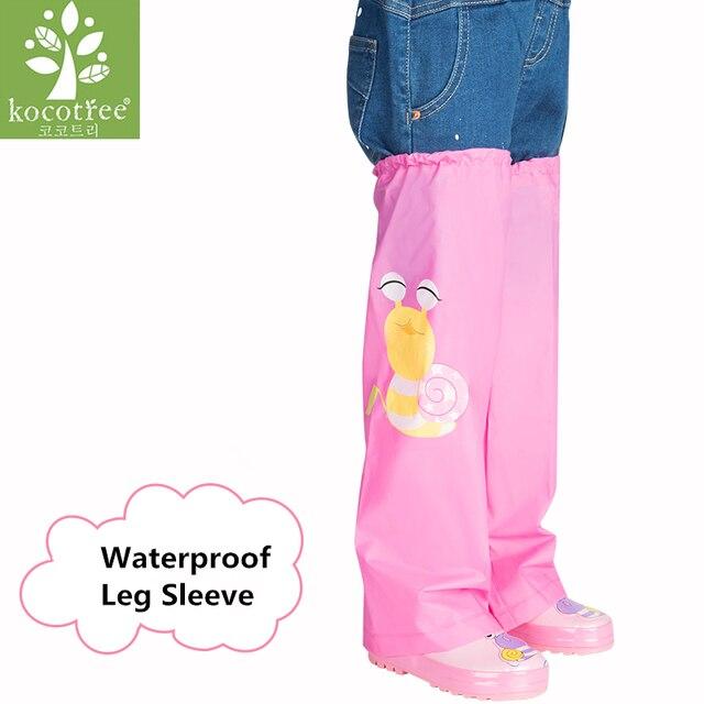 Niños de dibujos animados lluvia corta Pantalones impermeable ...