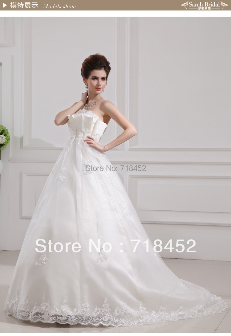 New arrival 2013 wedding dress princess ball gown for Wedding dress fabric stores