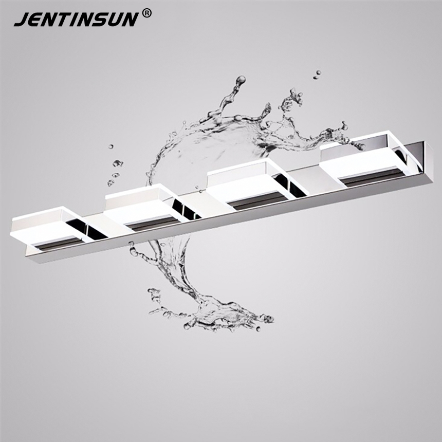 68cm 12W Bathroom Mirror Light Modern Acrylic LED Wall Lights Home Fixture Stainless Indoor Lighting Sconce applique murale led modern led bathroom light stainless steel led mirror lamp dresser cabinet waterproof sconce indoor home wall lighting fixtures