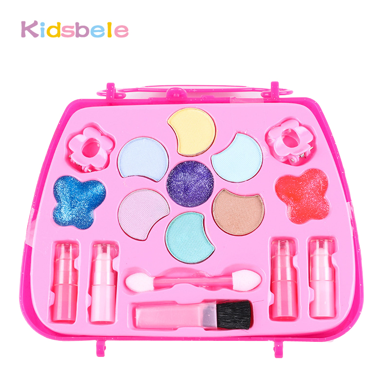 Girls Cosmetics Toys For Children's Makeup Box Pretend Play Sets Birthday Gift Kids Toy Present kids Makeup Pink Toy-in Beauty & Fashion Toys from Toys ...