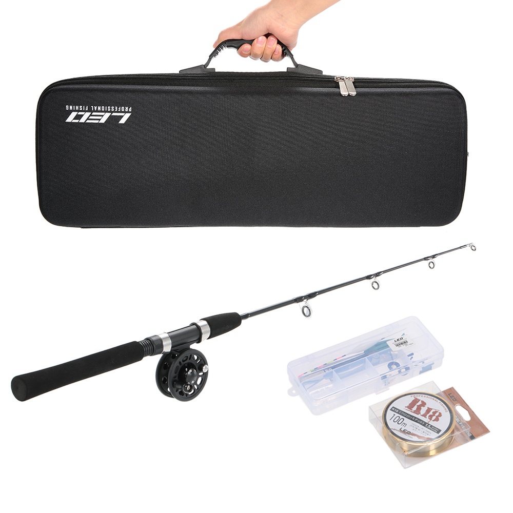 Portable Fishing Reel Rod Combo Set Ice Fishing Rod Kit with 100m Fishing Line Pesca Fishing Accessories Tackle Kit