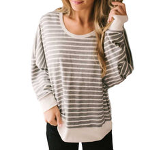 2019 Shirt Tops Blusas Feminina Women Fashion Stripe Backless Top Fashion Ladies Long Sleeve Blouse Modis Sexy Leisure Shirt(China)