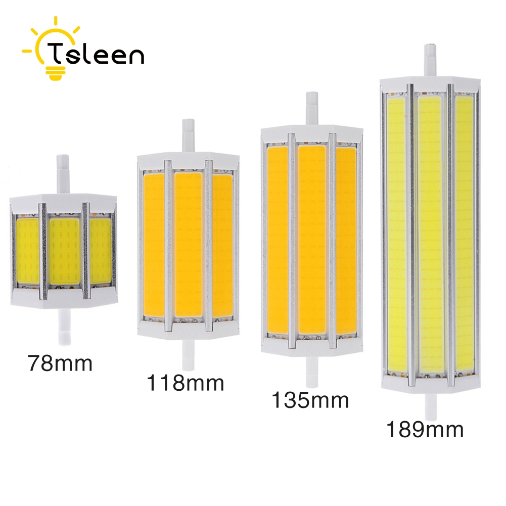 TSLEEN Free Shipping! R7S LED Lamp 78mm 118mm 135mm 189mm 85-265V COB LED Bulb Light J118 J78 Tube Replace Halogen Floodlight r7s led lamp 78mm 118mm 5w 10w led r7s light corn bulb smd2835 led flood light 85 265v replace halogen floodlight page 7