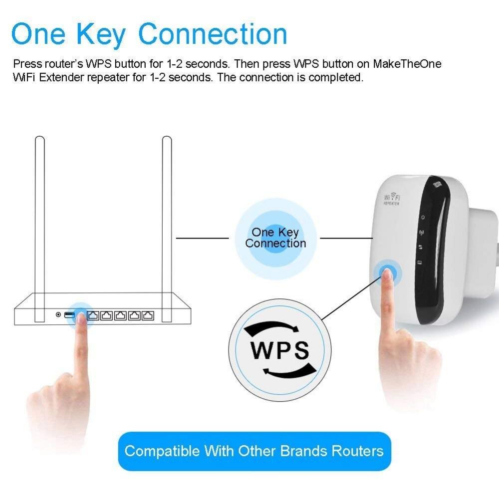 უსადენო N 802.11N / B / G WPS 300Mbps WiFi - ქსელის აპარატურა - ფოტო 5