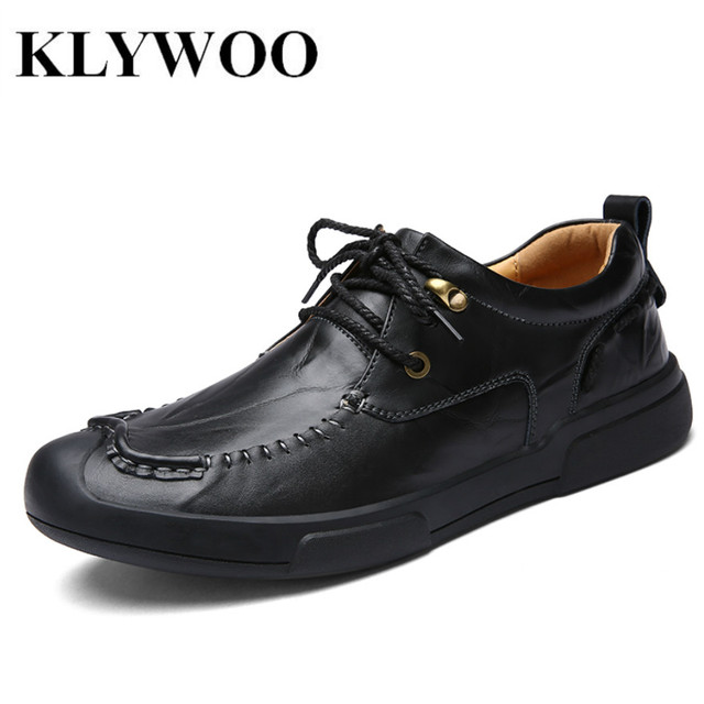 08711f4c KLYWOO Zapatos Casuales Para Hombre Mocasines de Cuero Nueva Moda de Los  Hombres Zapatos de Vestir
