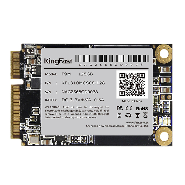 "Msata ssd kingfast f9m ssd msata 256 gb 128 gb 512 gb ssd disco duro para computadora 3.5mm 1.3 ""Unidades de Estado Sólido interno"