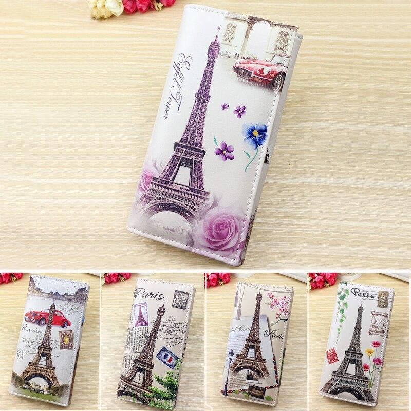 Clutch Wallets Purses Flags Money-Bags Paris Eiffel Coin Tower-Style 11-Colors Women