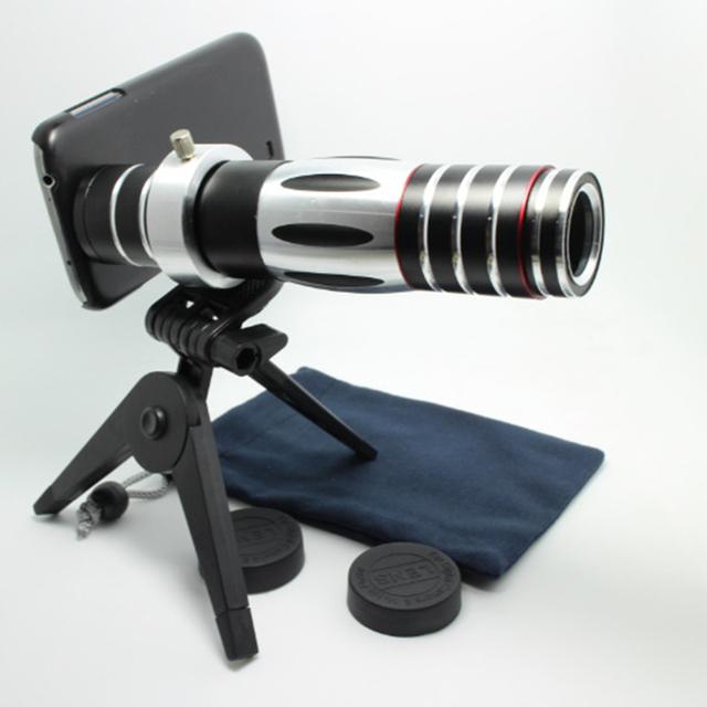 Nuevo teléfono móvil 5-15x cámara del telescopio del zumbido óptico teleobjetivo lente para apple iphone 4 5 5S 6 plus para samsung note 2 3 4 s4 s5