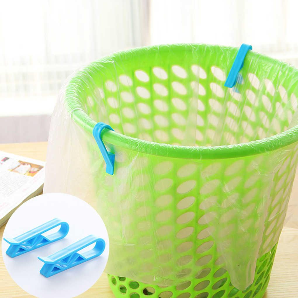 4 pçs/set Cesto de Lixo Saco de Lixo Clipe Anti-derramamento Pode Clipe Braçadeira Saco De Lixo Plástico de Escritório Em Casa