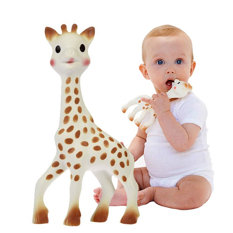 100 font b Food b font Grade Rubber Sophie The Giraffe Teether Baby Teether Teething Toy