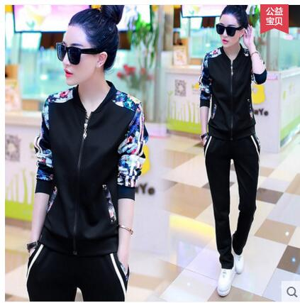 xiangyihui Autumn Tracksuits Suits Woman Pants 2 pcs