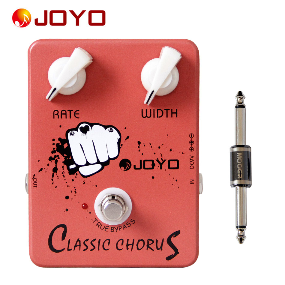 ФОТО JOYO JF-05 Classic Chorus Electric Guitar Effect Pedal True Bypass +MOOER PC-S pedal connector