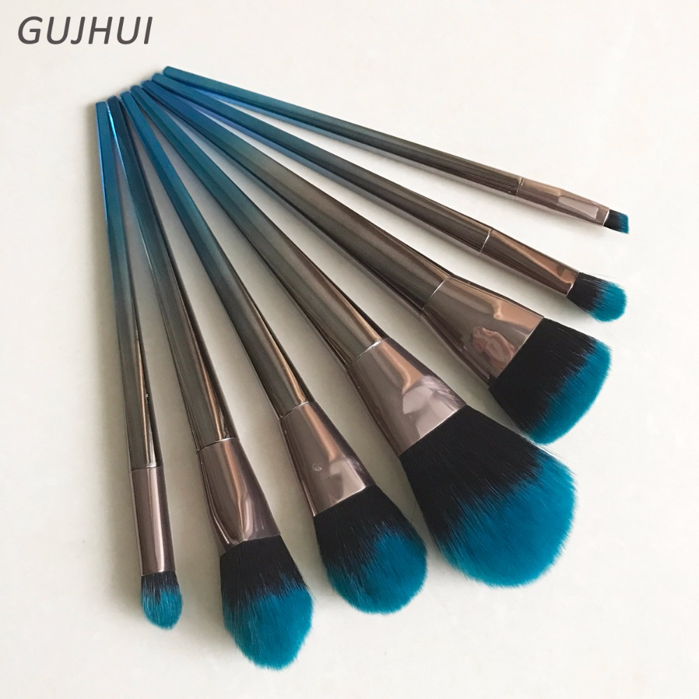 7PCS Unicorn <font><b>Makeup</b></font> <font><b>Brushes</b></font> Foundation Powder Blending Eyebrow Highlighter Eye Shadow <font><b>Makeup</b></font> <font><b>Brush</b></font> <font><b>Set</b></font> Navy <font><b>Cosmetic</b></font> <font><b>Brush</b></font> Tools image
