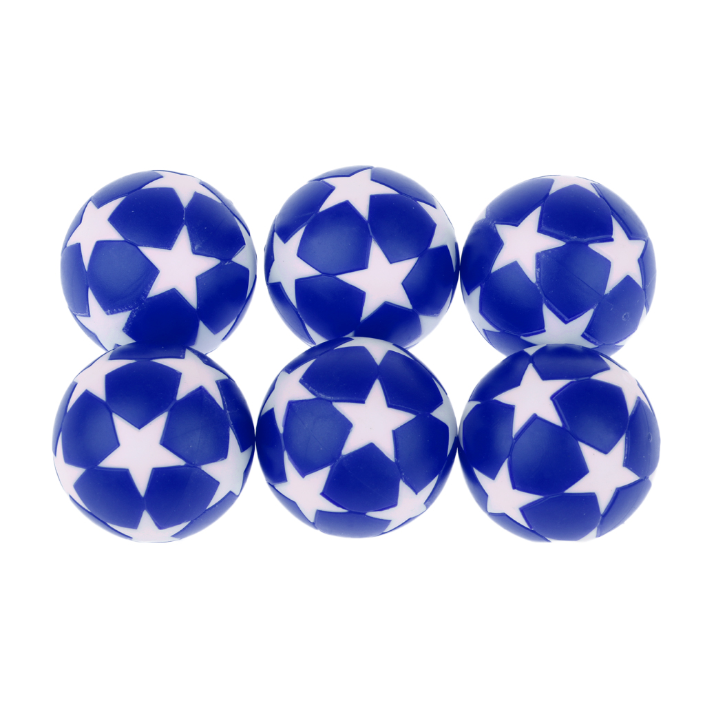 MagiDeal 6Pcs Foosball Table Football Plastic Soccer Ball Football Fussball Soccerball Indoor Sport Gift Round Indoor Games 32mm image