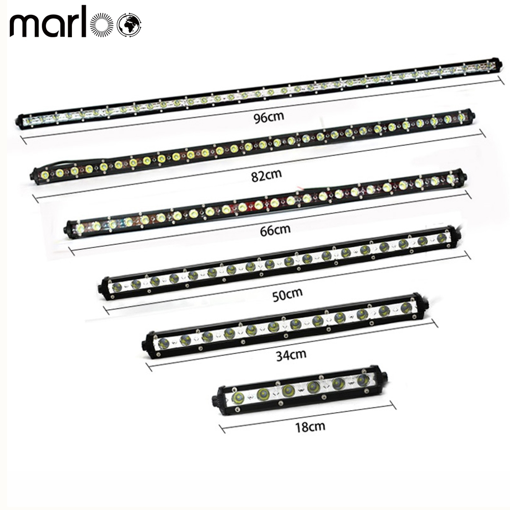 Marloo Slim Offroad LED light bars 18W 36W 54W 72W 90W Driving lights DRL Fog lights Tru ...
