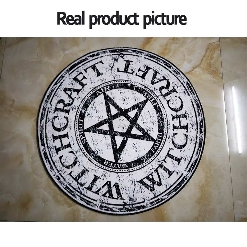 Fashion Pentagram Soft Flannel Foot Door Yoga Chair Play Mat Bathroom Hallway Carpet Area Rug Round Home Decoration Black Star In From Garden