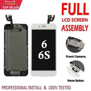 Image 1 - 아이폰 6 6 s lcd 전체 어셈블리 3d 터치 id에 대 한 100% 전체 설정 화면 완료 교체 디스플레이 + 전면 카메라 + 홈 버튼