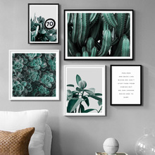 Leaf Cactus Potted Succulent Plants Quote Wall Art Canvas Painting Nordic Posters And Prints Wall Pictures For Living Room Decor nordic poster succulent plants posters and prints cactus cuadros wall art canvas painting wall pictures for living room unframed