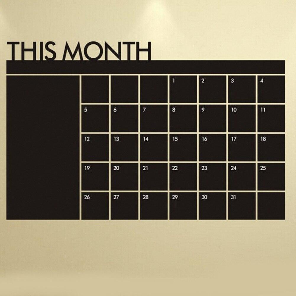 60*92 cm Blackboard Black Chalk Board Chalkboard Monthly Planner Sticker  Schedule