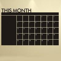 60 92 cm blackboard black chalk board chalkboard monthly planner sticker schedule.jpg 200x200
