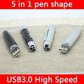 Ventas calientes 16 GB 32 GB USB 3.0 Usb Flash Drive 64 GB 5in1 Metal de La Manera Mini Key Pendrive 512 GB Tarjeta de Memoria Flash Del Palillo 128 GB regalo