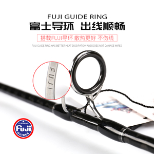Image 3 - NEWJapan Full Fuji Parts MADMOUSE  Jigging Rod 1.8M PE 2 4 Lure Weight 60 200G 20kgs Spinning/casting Boat Rod Ocean Fishing Rod