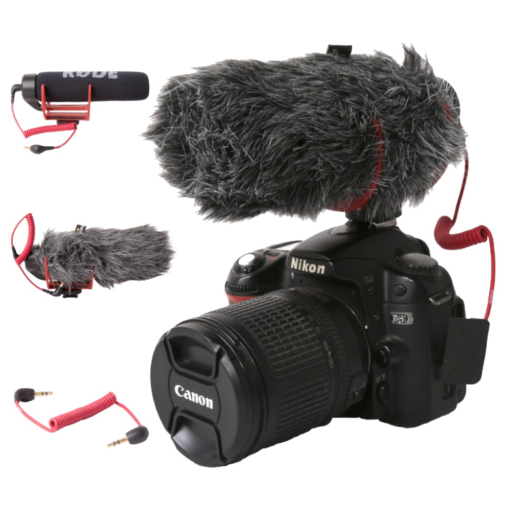 Orsda Ro De VideoMicro GO On-Camera Microphone For Canon Nikon Lumix Sony Smartphones Free Windsheild Muff/Adapter Cable