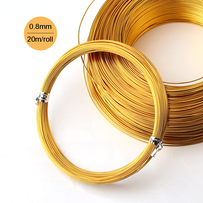 2pcs or 3pcs jewelry copper wire 06mm 22ga thickness gold silver thickness 08mm 20 gauge silver gold skyblue colored aluminum jewelry making wire 20m coil craft greentooth Choice Image