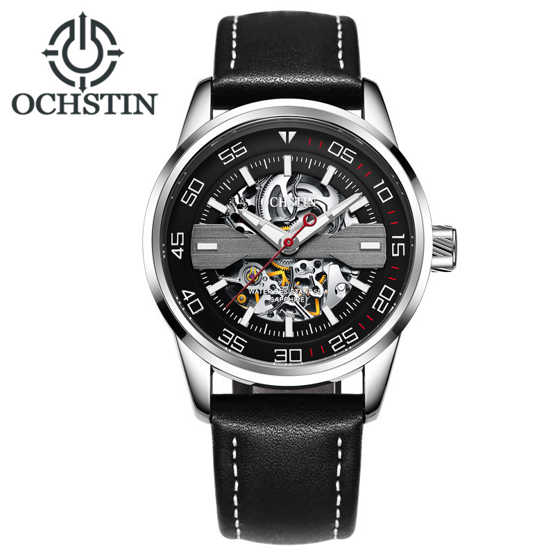 Men Skeleton Casual Mechanical wind watches 30M Waterproof Luxury Brand Automatic Watch Relogio masculino Clock male Wristwatch ks black skeleton gun tone roman hollow mechanical pocket watch men vintage hand wind clock fobs watches long chain gift ksp069