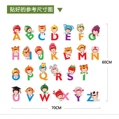 Color Alphabet Wall Sticker Bedroom Childrenu0027s Room Baby Room Wall Stickers  Nursery Cartoon Early Learning Center In Wall Stickers From Home U0026 Garden  On ... Part 91