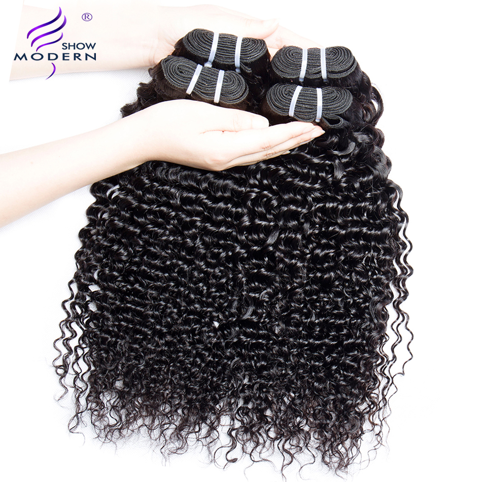 Modern Show Hair Brazilian Deep Wave Hair Bundles Deal 100% Human Hair Extension 3 and 4 Bundles Available NonRemy Free Shipping