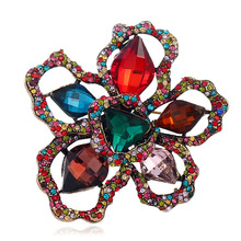 MIARA.L Popular Clothing Creative High Quality Hollow-out Flower Brooch Pin Freehand Brushwork Traditional Chinese Brooch chic hollow out flower rhinestoned brooch for women