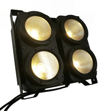 Combination 4x100W 4 Eyes LED Blinder Light COB Warm White LED High Power Professional Stage Lighting For Party Dance Floor cheap DJWORLD DMX Stage Light SHE-CoC0B4ECW 400W Stage Lighting Effect Professional Stage DJ 90-240V 4x100W COB cool white and warm white