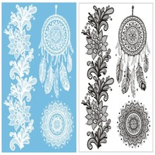 2PC Sexy Temporary Flash Tattoo Inspired Body Makeup Sticker White Black Metallic Tattoos Stickers Temporary Tatoo
