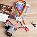 Camera Strap Woven Anti-lost Rope Shoulder Strap Neck belt Rainbow clouds shape for Sony Nikon Canon DSLR SLR Cameras