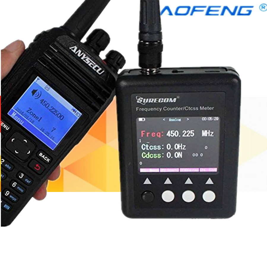 SURECOM Frequency meter SF401 plus Frequency Counter 27Mhz 3000Mhz Radio Portable Frequency meter with CTCCSS DCS