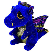 "Pyoopeo Ty Beanie Boos 10"" 25cm Saffire the Dragon Plush Medium Soft Big-eyed Stuffed Animal Collection Doll Toy(China)"