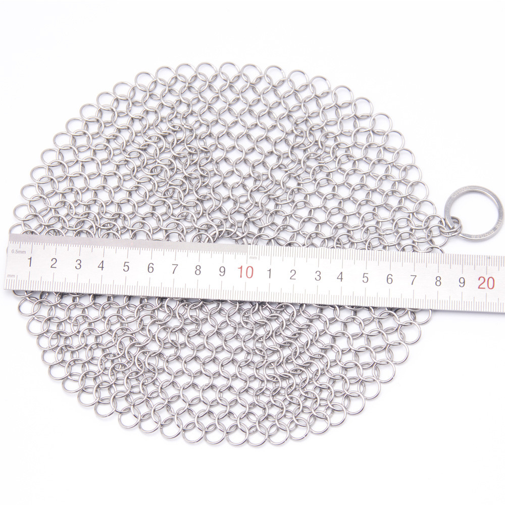 My House 7*7 Finger Iron Cleaner Stainless Steel Chainmail Scrubberdrop shipping JulHot8536